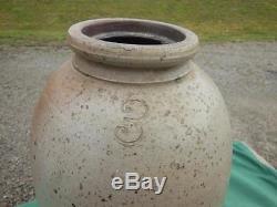 Antique 3 Gallon Stoneware Crock Jug Pottery Madison Co Ky Waco Rare