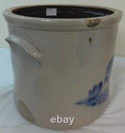 Antique 4 Gal. Stoneware Crock Cobalt Decoration N. Clark, Jr. Athens, NY
