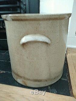 Antique 4 Gallon Stoneware Crock Blue Bee Sting Attributed to Red Wing