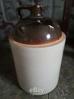 Antique 5 Gallon Love Field Potteries Dallas Jug Crock Whiskey Stoneware TX