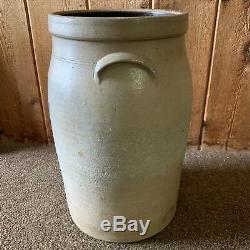 Antique 5 Gallon New Ulm Minnesota Salt Glaze Stoneware Butter Churn