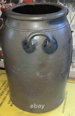 Antique 5 Gallon R. T. Williams New Geneva Pa Pitcher Salt Glaze Stonewarescarce