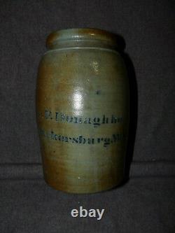 Antique A P Donaghho Parkersburg, West Virgina Stoneware Crock Or Canning Jar