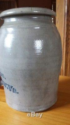 Antique A P Donaghho Parkersburg Wv Stoneware Crock Wax Sealer Near Mint