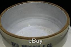 Antique Advertising REID, MURDOCH & Co. Stoneware Pickle Crock with GLASS LID
