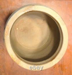 Antique American Blue Decorated Crock Salt Glaze Stoneware Baltimore 19th