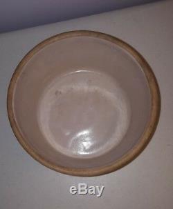 Antique Art Deco Stoneware Crock Butter Crock Bowl 7.5