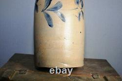 Antique BLUE DECORATED STONEWARE CROCK / JUG
