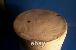 Antique Baltimore 10 1/4 Stoneware Crock With Cobalt Blue Motifs, L-e102