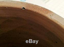 Antique Baltimore 1860 2 Gallon Crock Stoneware Cobalt Blue Clover Salt Glaze