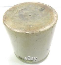 Antique Bee Sting Four Gallon Salt Glaze Cobalt Stoneware Crock Country Farm
