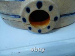 Antique Bennington Vt. Stoneware Cobalt Blue #3 Crock for spigot EP Norton
