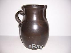 Antique Brown Stoneware Crock Jug Pitcher 11 Tall