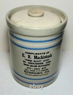 Antique Butterine Stoneware Crock From Economy Pennsylvania 20th. Century