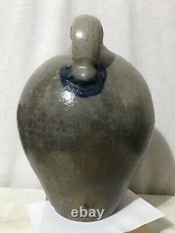Antique Circa 1840 E H Merrill 2 Gallon Stoneware Whiskey Jug Crock Magadore OH