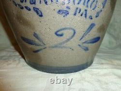 Antique Cobalt Blue T. F. Reppert Greensboro, PA Stoneware 2 gallon Crock