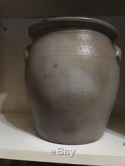 Antique Cobalt Decorated Stoneware Crock Sipe Nichols & Co Williamsport Pa