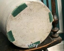 Antique Collector quality heavy decorated 4 gallon Pennsylvania stoneware crock