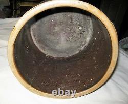 Antique Country USA Fenton Bennington Vt Blue Colbalt Art Stoneware Crock Jug