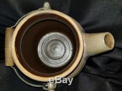 Antique Cowden & Wilcox Cobalt Decorated Stoneware Batter Jug Crock Aafa