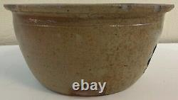 Antique Cowden Wilcox Stoneware Butter Crock Cobalt Decorated Floral