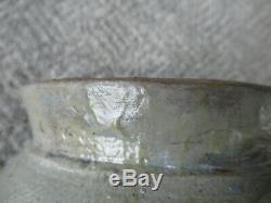 Antique Crock Stoneware Ovoid SMITH & DAY Cobalt Slip Salt Glaze, Norwalk CT