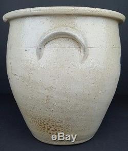 Antique Evan B. Jones Pittston PA 1.5 Gallon Stoneware Salt Glaze Ovoid Crock