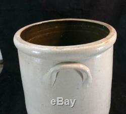 Antique F. B. Norton 2 Gal. Cobalt Decorated Stoneware Crock Very Clean