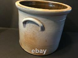 Antique Fine New Jersey 3 gallon Stoneware Crock, 19th century, 10