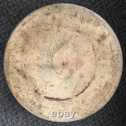 Antique Four Gallon Salt Glaze Stoneware Crock With Handles