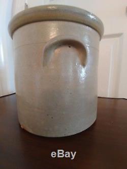 Antique Fulper Bros New Jersey Stoneware 1 1/2 Gallon Crock Primitive POTTERY