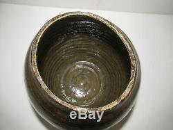 Antique Georgia Stoneware, Alkaline Glaze, Circa 1890, Spice Jar, Crock