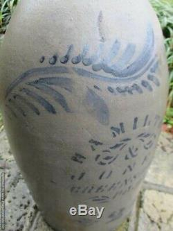 Antique Hamilton & Jones Greensboro PA. 15 Stoneware Crock #2 Jug 1800's