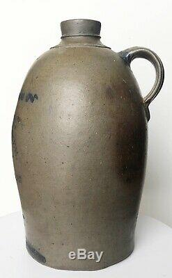 Antique Hamilton & Jones Pennsylvania Stoneware Crock 2 Gallon Jug
