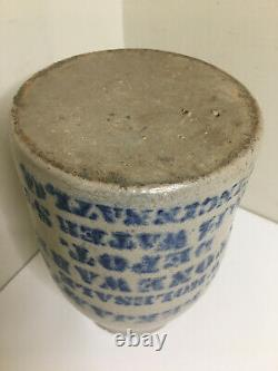 Antique JAS James Benjamin Stoneware Depot Crock Cincinnati Ohio