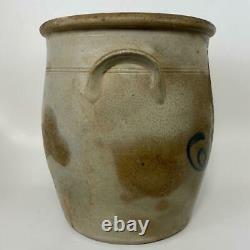 Antique J NORTON BENNINGTON VT 2 Gal Salt Glazed Stoneware Primitive Pot Crock