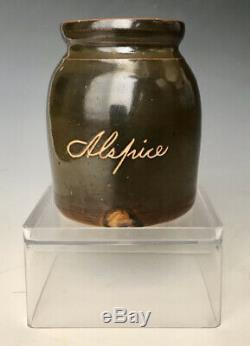 Antique Little Brown Stoneware Allspice Jar Crock Jug, Norton, Bennington VT