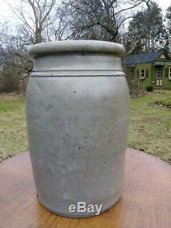 Antique Maryland Merchant Stoneware Crock