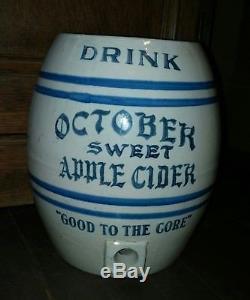 Antique October Sweet Apple Cider Stoneware Crock