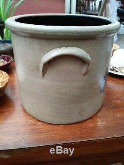 Antique One Gallon Stoneware Crock Pittston, PA Cobalt Decoration Blue Stoneware