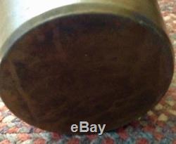 Antique PA Cobalt Blue Grey Stripe Free Hand 1 Gal Stoneware Crock Jar Primitive