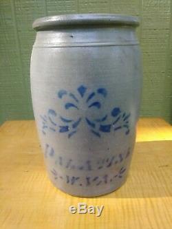 Antique Palatine West Virginia Stoneware Crock