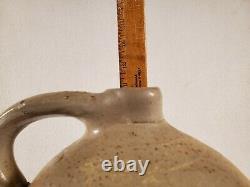 Antique Pottery Salt Glazed F H Cowden Harrisburg PA Jug Handle Crock Stoneware