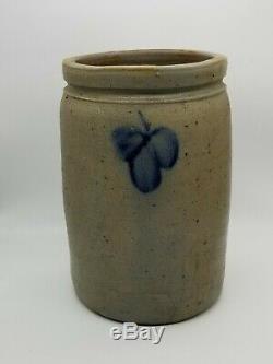 Antique Primitive 1.5 G Salt Glazed Stoneware Crock