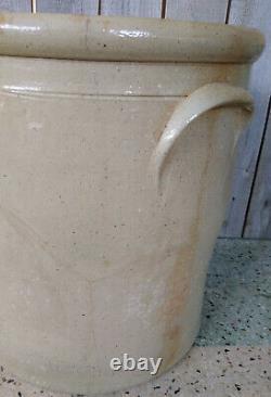 Antique Primitive 6 Gallon Red Wing Stoneware Crock Salt Glaze Cobalt Bee Sting