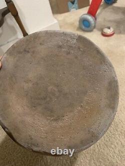 Antique Primitive Salt Glazed 2-gallon Stoneware BLUE WISPS Crock