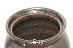 Antique Primitive Southern Pottery 5 Gallon Stoneware Butter Churn Crock Jar