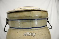 Antique RED WING Union Stoneware 6 Gallon WATER COOLER with LID RARE SIZE large