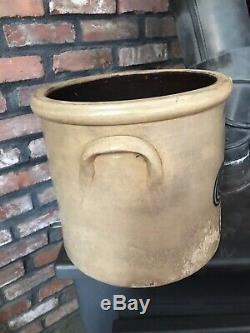 Antique Rare Sl Pewtress. Fairhaven Conn. 4 Gallon Primitive Stoneware Crock