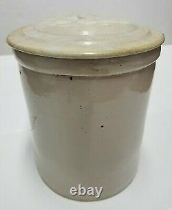 Antique Red Wing 6 Gallon Stoneware Crock With Daisy Lid, Rare large 6 Wing